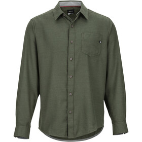 Marmot Hobson Midweight Flannel LS Shirt Herre rosin green heather